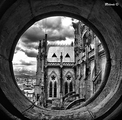 La Ventana #2 - The Window (Bernai Velarde Photography ) Tags: bw church america quito ecuador cathedral basilica south catedral iglesia sur nacional voto velarde bernai