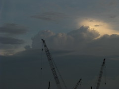 Singapore Skyline (Wilson Loo) Tags: sunset singapore marinabay marinabarrage