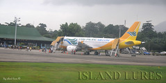Cebu Pacific Air -  Airbus A319-111 (Island Lures) Tags: airplanes airports airliners thephilippines sibulan cebupacificair dumaguetecityairport