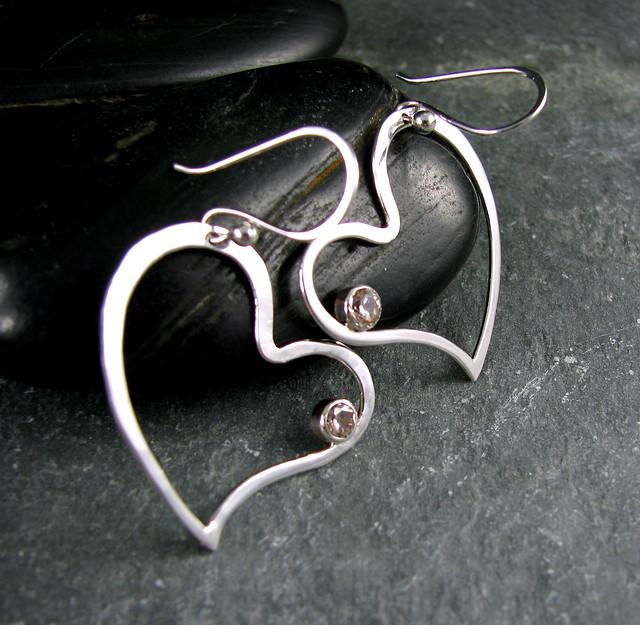 Ear Cuff Earrings Artisan Jewelry from wiregems on Ruby Lane