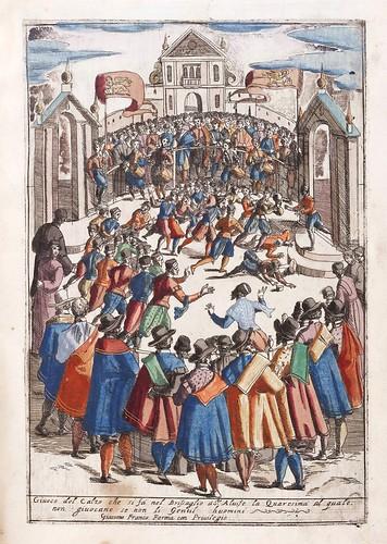 026-Juego del calzo -Habiti d'hvomeni et donne venetiane 1609