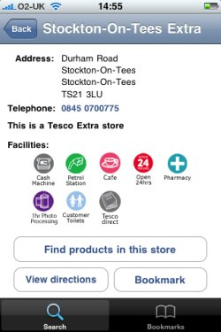 Tesco iPhone app
