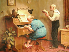 sunday familyscene........ (koko_pictures) Tags: old family people cat painting piano 2009 cosy