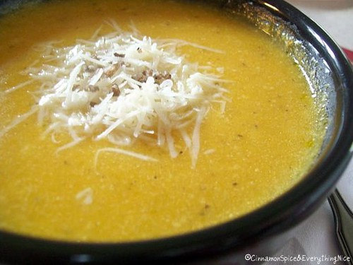 Roasted Garlic & Butternut Soup