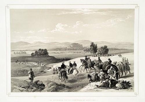 019- Aproximacion a la fortaleza de Kwettah-Sketches in Afghaunistan 1842- James Atkinson