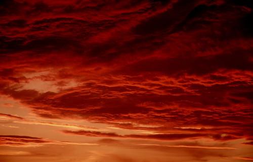 Ciel au coucher du soleil