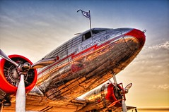 DC-3 Early Morning HDR (Steve_Cook, shoot and eat...) Tags: airshow dc3 hdr allianceairshow