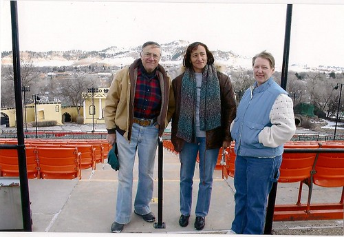 Guido Della Vecchia, Luz Maria and Aunt Susan in the Spearfish Amphitheater
