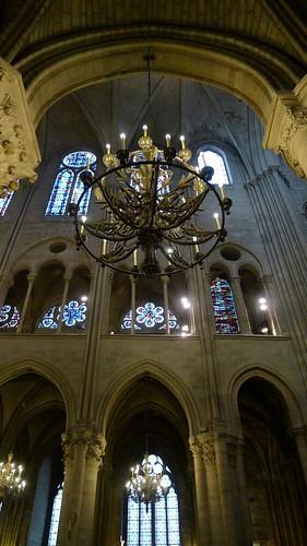 Chandelier at Notre Dame