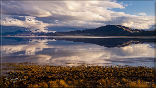 Reflections Off Antelope Island by Just Used Pixels