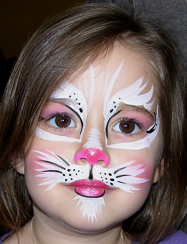 Pink Kitty Face Painting por steelbluebutterfly