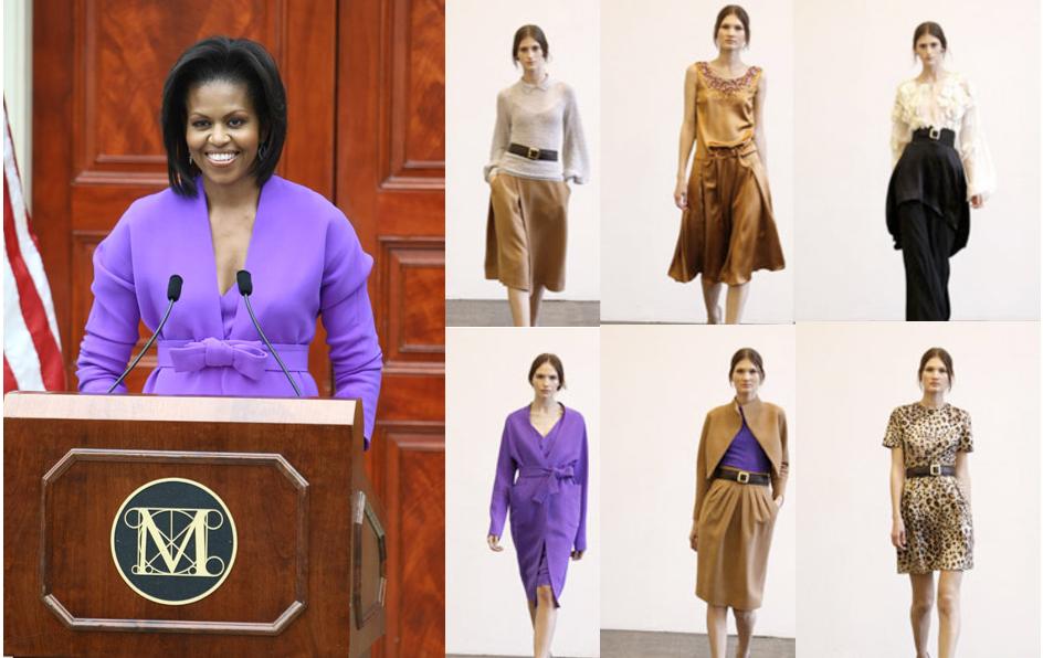 Michelle Obama wears Isaac Mizrahi to Met Ribbon Cutting