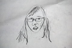 blind contour drawing (ledges) Tags: williamscollege berkshirecounty williamstownmassachusetts spring2009