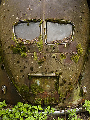 iron giant (kidbelz) Tags: auto abstract eye cars abandoned face graveyard car canon switzerland eyes rust suisse faces decay cemetary rusty voiture powershot bern junkyard scrapyard voitures rouille cimetire autofriedhof g10 grbetal gurbetal kaufdorf messerli kidbelz wwwautofriedhofch historischerautofriedhofgrbetal g1011866