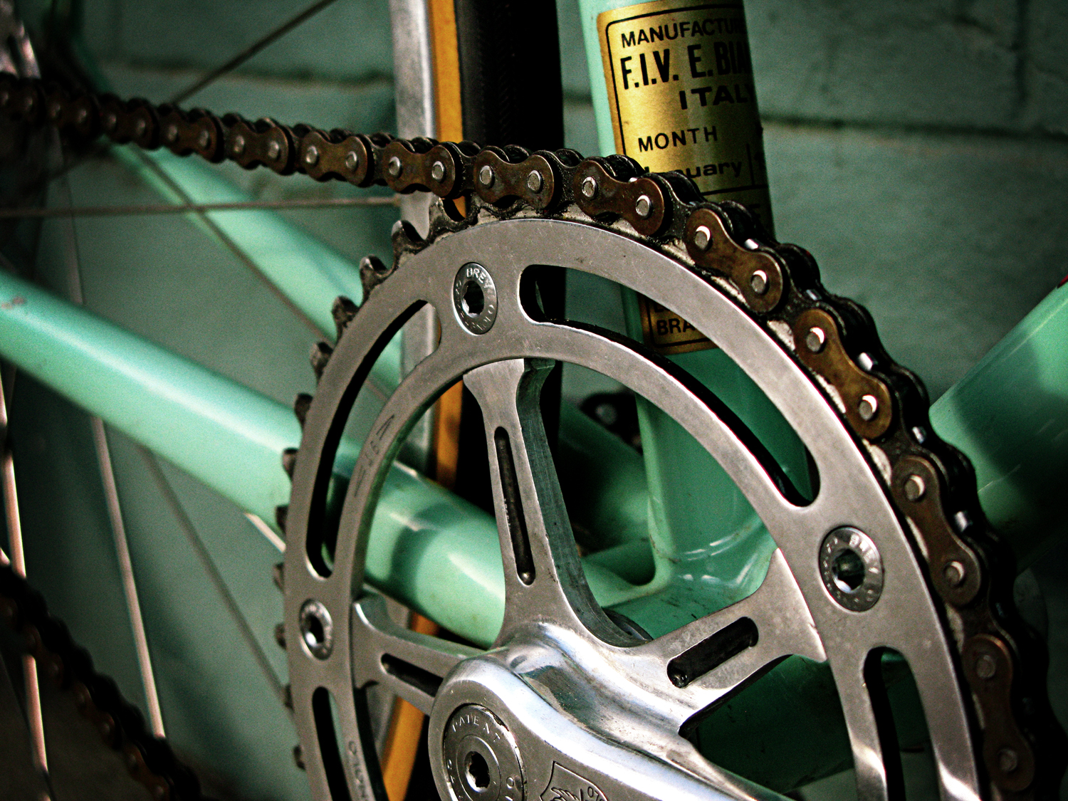 Hand Polished Pre 78 Campy Track Cranks