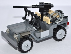"Willys jeep ""Rosie"" Redux (The Ranger of Awesomeness) Tags: ford lego jeep wwii willys brickarms willysmb"