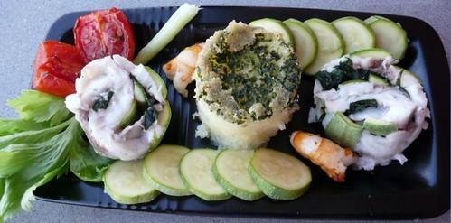 rotolo di orata alle verdure