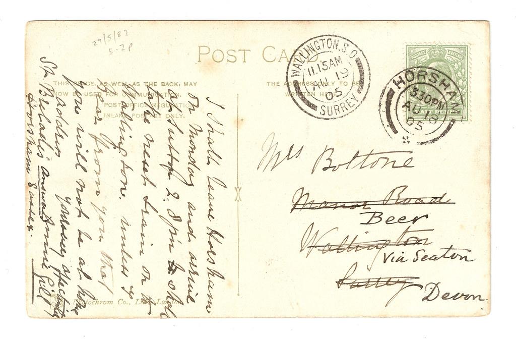 Horsham - Christ's Hospital Art School - Verso, with links to Greta Garbo