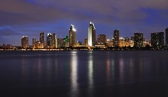 San Diego Skyline (SoxFanInSD) Tags: geotagged nightlights sandiego explore sandiegoskyline lightsatnight explored 10millionphotos sandiegoatnight nikond90 yourphototips capturenx2 tamron2875mm28