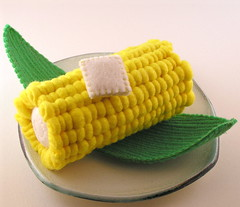 Corn on the Cob (GoBuggyGo) Tags: vegetables corn plush cornonthecob fakefood fauxfood feltfood