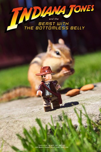 LEGO Indiana Jones and chipmunk