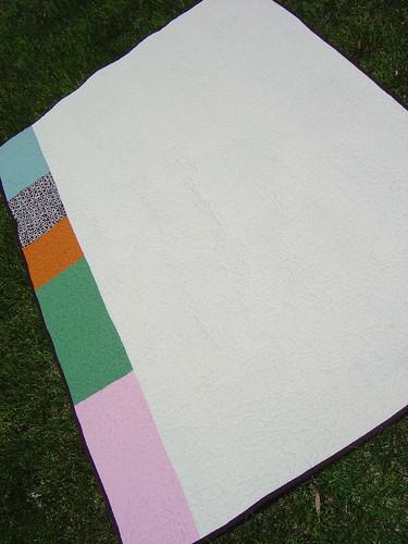 Wonky Blocks Quilt Back