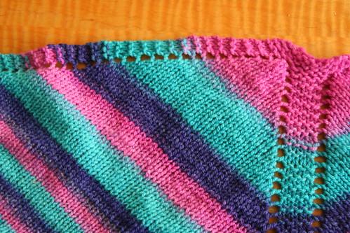 Handspun blanket detail