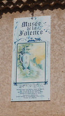 Sign for the Muse de la Faence in Moustiers (Monceau) Tags: faence sign moustiersstemarie musedelafaence