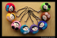 Handmade Cutie Round Handphone Charms ( Handmade Craft Collections) Tags: colors handmade cutie round multiple charms handphone