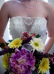 Bouquet and dress