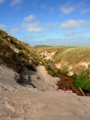 Leaving the dunes (Kirsten M Lentoft) Tags: beach water creek denmark sand stream dunes thy jutland klitmøller kirstenmlentoft