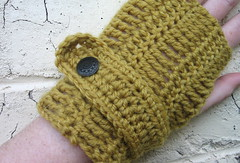 Mustard Fingerless Mittens (Mel P Designs) Tags: gloves mustard etsy mittens mitts fingerless madeit