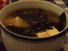 Miso soup, serving for one