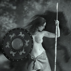 penthesilea (mypixbox) Tags: horse girl female nude greek amazon queen lance warrior shield mythology lancia spear amazons scudo penthesilea
