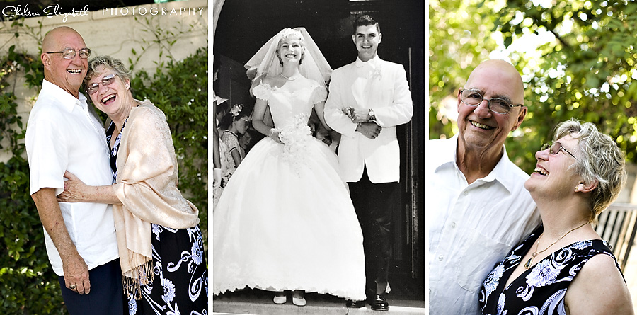 50th wedding anniversary celebration and portrait