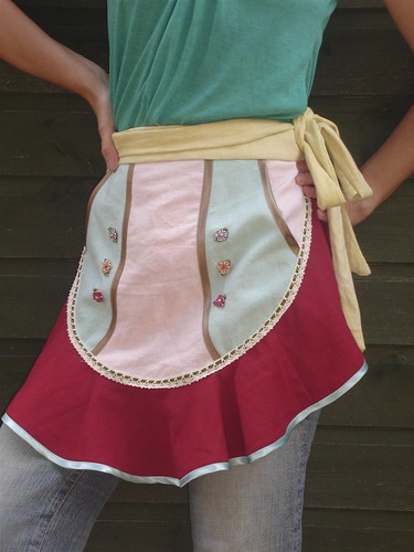 Mia one of a kind apron by Malphi