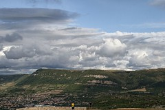Millau 17-07-09-8525 (sweenpole2001) Tags: sky cloud holiday france clouds town view hill hills millau