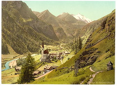 Heiligenblut and Grossglockner, ca. 1900 (gletscherfloh) Tags: austria carinthia grossglockner heiligenblut
