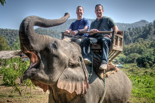 Doug & Jeff on an Elephant