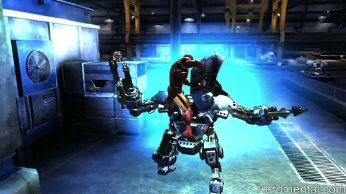 juego Iron Man 2 destruyendo robots