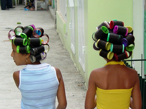 Young Girls With Hair Curlers San Jose De Ocoa