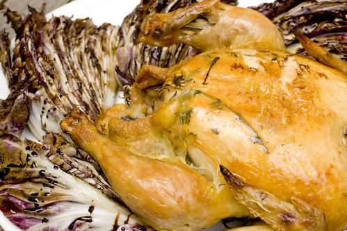 Roasted Chicken with Grilled Radicchio 7