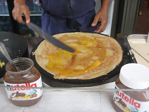 The Making of an Egg and Cheese Crepe