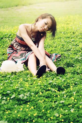 フリー画像| 人物写真| 女性ポートレイト| アジア女性| ワンピース|       フリー素材|