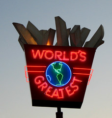 World's Greatest Fries sign, MN State Fair