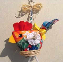Mell (TELMELITA) Tags: galinha artesanato fuxico reciclagem chita trabalhosmanuais trabalhosemchita