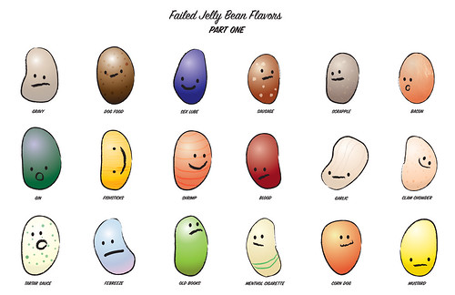 jelly beans flavors. Failed Jelly Bean Flavors Part