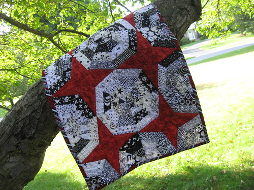 spider web doll quilt completed!