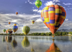 "Colorado Balloon Classic - ""Dream II"" (iceman9294) Tags: trees sky mountain lake reflection water clouds colorado searchthebest balloon coloradosprings hotairballoon hdr ballooning coloradoballoonclassic cheyennemountain bestofmywinners blinksuperstars"