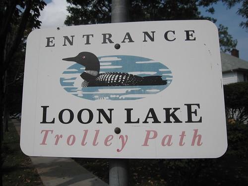 Loon Lake Trolley Path